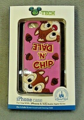 Disney Parks D-Tech CHIP 'N' DALE Disneyland Cell Phone Case iPhone 5/5S NEW
