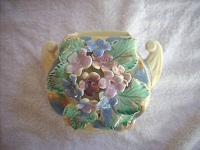 Wendy Art Pottery Vase With Applied Floral Decoration