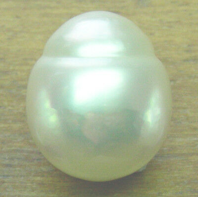 14mm! AUST WHITE SOUTH SEA PEARL 100% UNTREATED COLOUR UNDRILLED +CERT