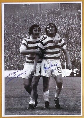 LOU MACARI & John Kelly  DIXIE DEANS The Hoops CELTIC Football Club signed PRINT
