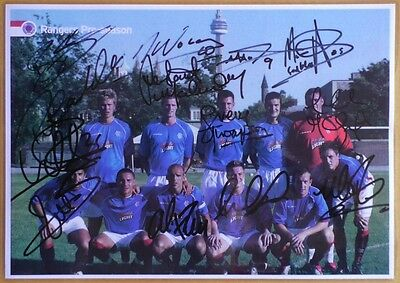 GLASGOW RANGERS FOOTBALL CLUB Pre-season Signed Team Picture (HELP NEEDED) 2006