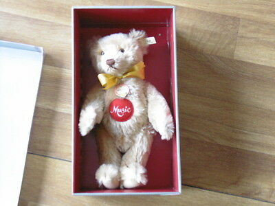 Steiff Musical Teddy 1951 Replica 1993 Caramel Bear Limited Edition Boxed
