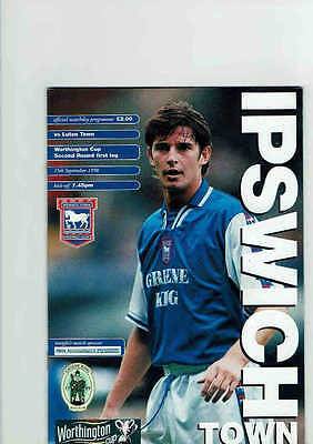 Ipswich Town v Luton Town Worthingtons Cup September 1998