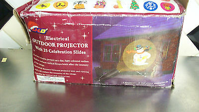 Electrical Indoor Outdoor Projector with 25 Celebration Slides by Li-Lo