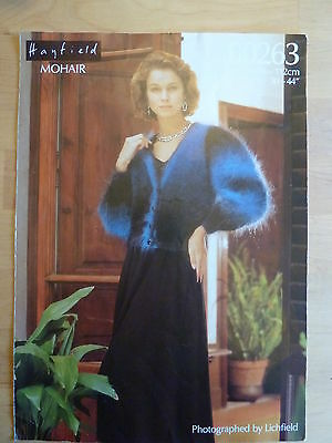 Knitting Pattern for Mohair Evening Jacket photographed by Lord Lichfield
