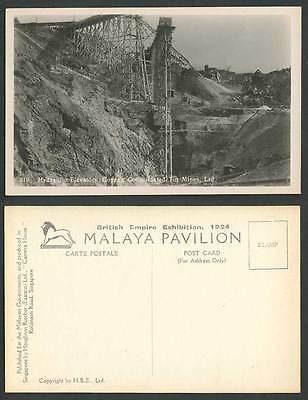 Perak Hydraulic Elevators Gopeng Consolidated Tin Mines, Expo' 1924 Old Postcard