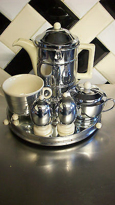 Art Deco Style insulated Coffee breakfast set Kosy Craft egg cups mirror tray