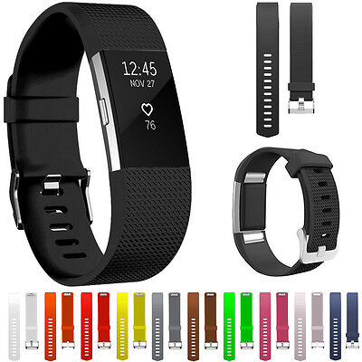 For Fitbit Charge 2 Strap Replacement Band Silicone Buckle Wristband Accessory