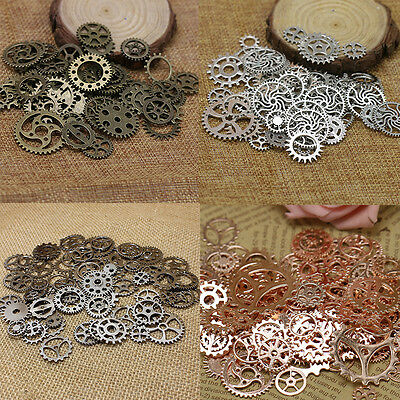 100g Vintage Steampunk Wrist Watch Old Parts Gears Wheels Steam Cog Punk DIY Art