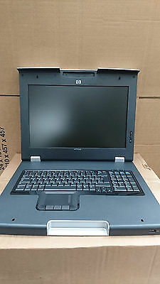 "HP TFT7600RKM AG053A 1U Rack 17"" LCD Rack Mount Screen Monitor no rails"