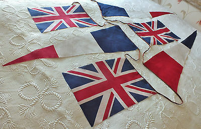 Superb Large WW2 era Vintage Union Jack Flag Bunting
