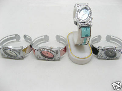 5 Ladies Ellipse Jewelry Bangle Cuff Watch wa-w70