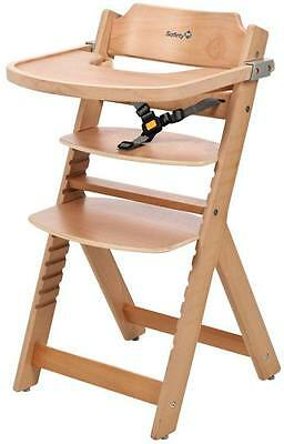 Safety 1st TIMBA WOODEN HIGHCHAIR Baby/Toddler Feeding Removable Tray 6m+ BN
