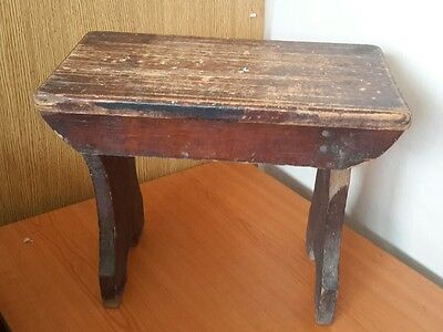 Vintage Wooden Stool Small Country Farmhouse Style Step Stool Seat