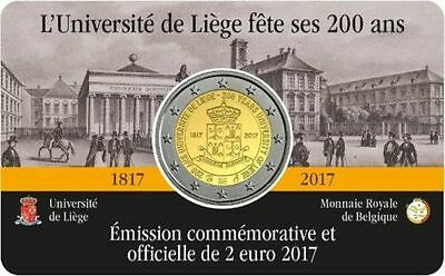 Belgica 2017 - Blister 2 Euros Coincar Version Francesa - Universidad De Lieja