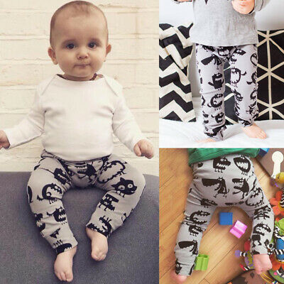 Baby Toddler Infant Boys Girls Unisex Trousers Leggings Pants Tights 0-24Months