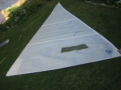 Jib Sail  for sailing Skiff Yacht boat ~5.04 x 4.77 x 2.4 Very Good condition