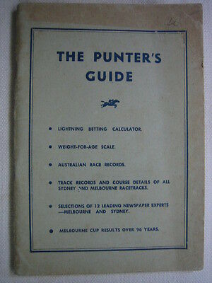 Horse Racing The Punter's Guide C1960 by Quality Press Sydney Melbourne cup wins