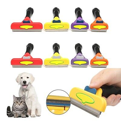 Dog Cat Short Long Hair Fur Removal Pet Grooming Brush Comb Shedding Rake Tool
