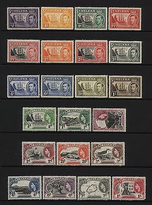 St Helena Collection 22 KGVI / QEII Stamps Mounted Mint