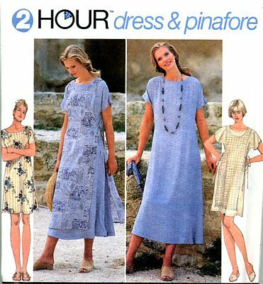 Uncut Sewing Pattern Ladies Pullover Loose Fitting Pinafore & Dress Size 6-16