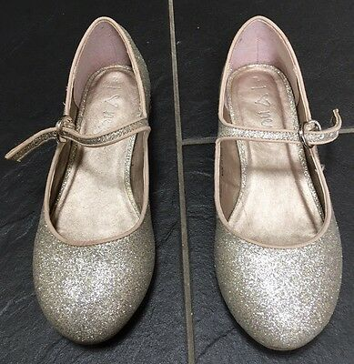 GIRLS GOLD SPARKLY PARTY SHOES by NEXT size 2