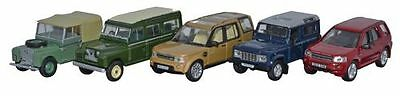Bnib Oo Gauge Oxford 1:76 76Set32 5 Piece Land Rover Set I/ii/disco/defender/fre
