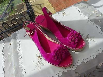 Clarks Pink Suede Sandals Size 6.5