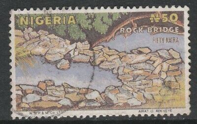 Nigeria 4368 - 1986 ROCK BRIDGE 50k POSTAL FORGERY