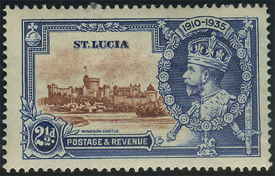 """St Lucia, SG 111b, 1935 SJ 2½d value, fine mint with """"Dot to left of chapel"""", Ca"""