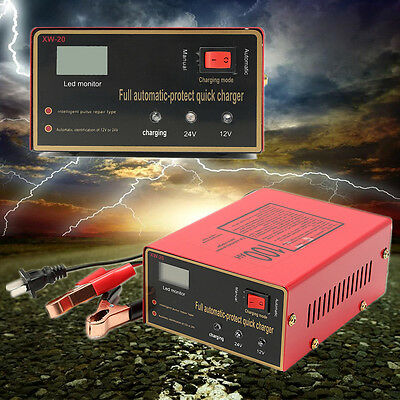 Automatic Intelligent Pulse Repair Type 220V 12V/24V 100AH Car Battery Charger