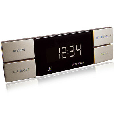 jacob jensen wecker wake up clock timer quarzwecker grau eur 12 00 picclick de. Black Bedroom Furniture Sets. Home Design Ideas