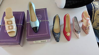 Selection of Six Collectible Miniature Shoes (2 Boxed)