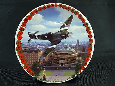 Decorative Plate by Grafton Lest We Forget Collection 'Spitfire Over Albert Hall