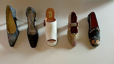 Five Collectible Miniature Shoes (Unboxed)
