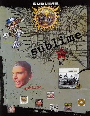 Sublime 2005 gold promotional 12 sticker sheet set NEW old stock MINT condition