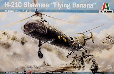 Piasecki H-21 Shawnee Flying Banana US Helicopter 1:48 Model Kit Italeri 2733