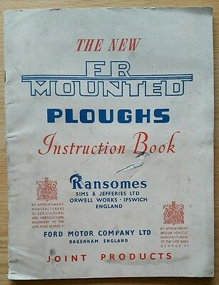 Fordson Ransomes Fr Plough Operators Manual
