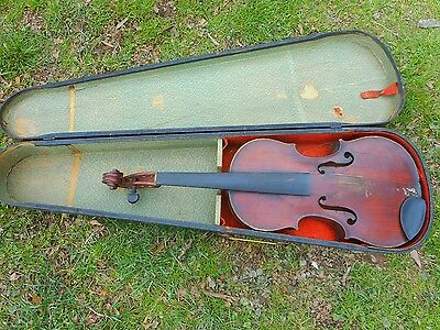 French Violin, Celebre Vosgien, 4/4, Needs Work, Case