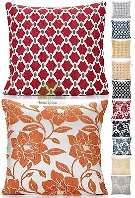 Chenille Modern Cushion Cover Scatter Cushion Sofa Bed Floral Geometric