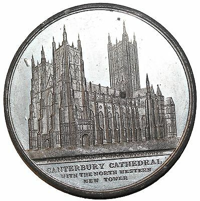 Ca. 1843 Great Britain Canterbury Cathedral Medal By Davis BHM.2675