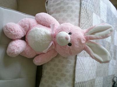 Super Soft & Cute Plush Pink & White Bunny Rabbit Age 18 Months + Easter Bunny