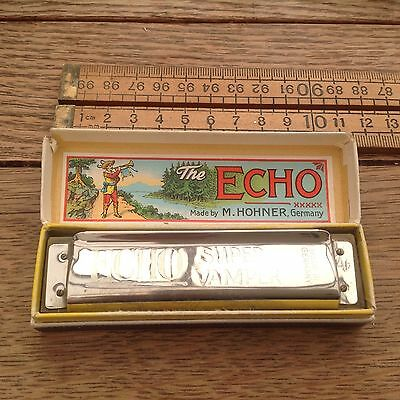 Vintage Hohner Harmonica, Vintage Hohner Echo Harmonica, A Flat, Boxed