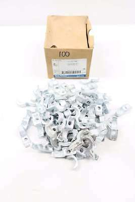 Box Of 100 New Thomas&betts 1275 3/8 In Iron Pipe Strap D565758