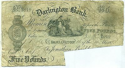 Great Britain Note Darlington Bank 16.11.1883 Cancelled