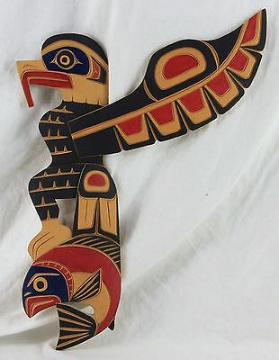 SQUAMISH Indian Nation Holzschnitz Kunst signiert FRED BAKER Canada B.C. carving