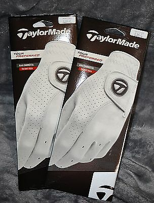 (2) 2017 TaylorMade Tour Preferred Cabretta Gloves- New - LH Large