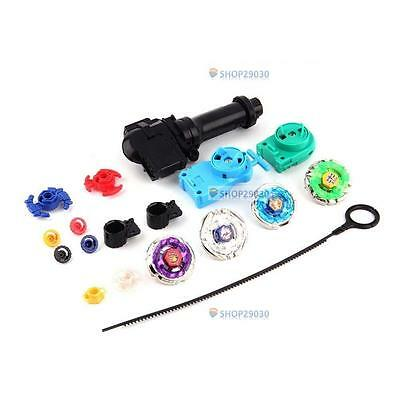 New Fusion Top Metal Master Rapidity Fight Rare Beyblade 4D Launcher Grip Set SP