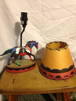 Trail Of Painted Ponies Lamp-EARTH WIND and FIRE NIB