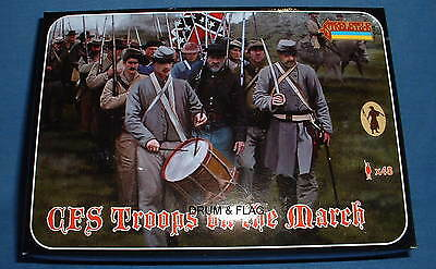 STRELETS Set 147 - CONFEDERATE TROOPS ON THE MARCH - ACW - 1/72 SCALE